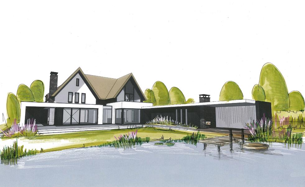 Projecten wolfs architecten al 50 jaar architectuur for Moderne villa architectuur